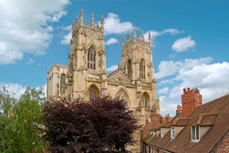 View of York Minster from Stafford House Drawing Room